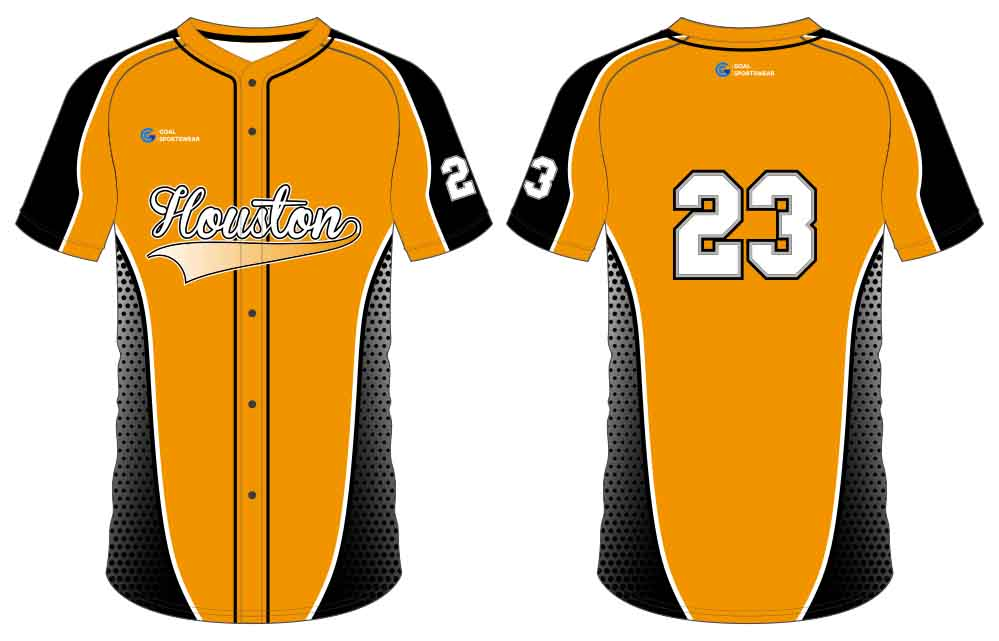Full Sublimated custom made mens team button down baseball jersey