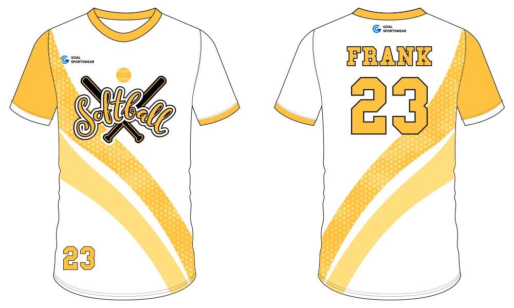Full Sublimated custom made mens team softball jersey design