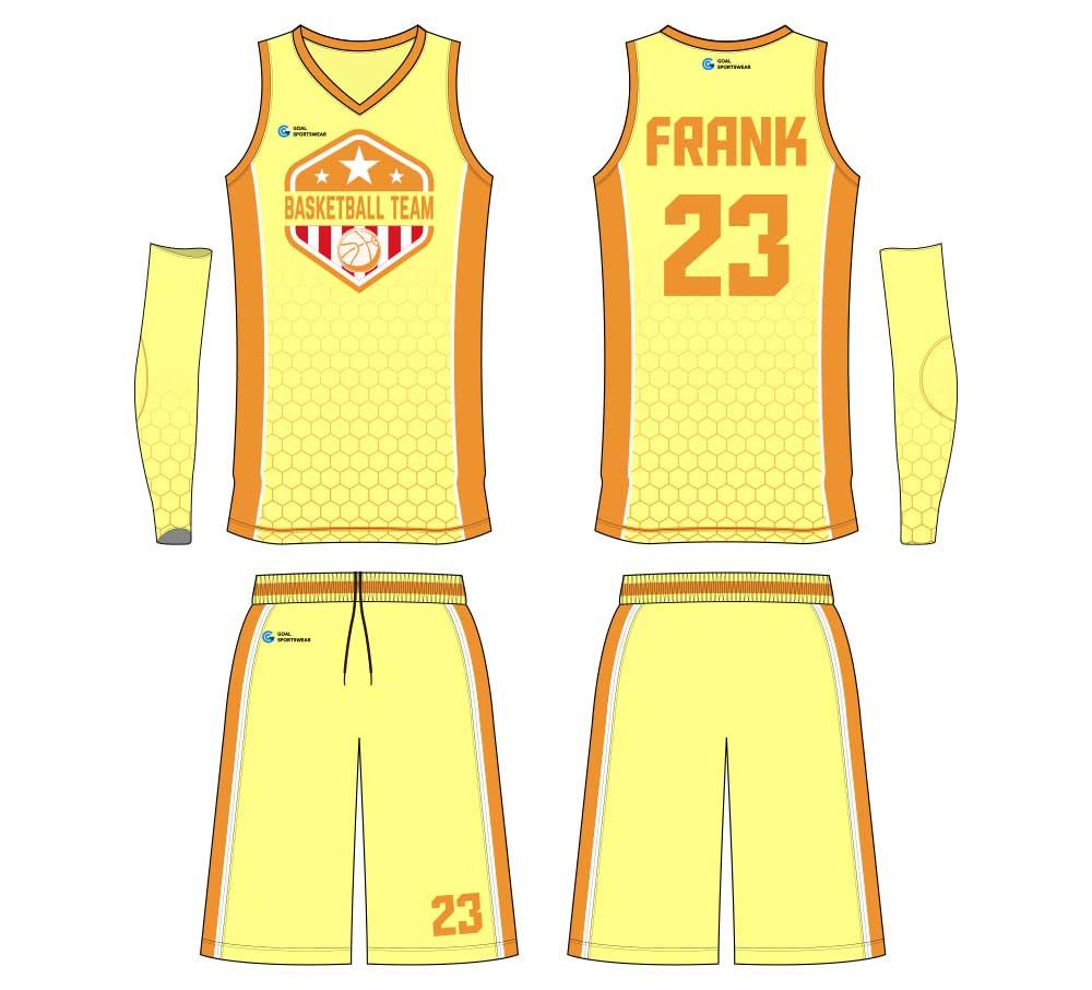 Full dye sublimation custom printing basketball jersey design