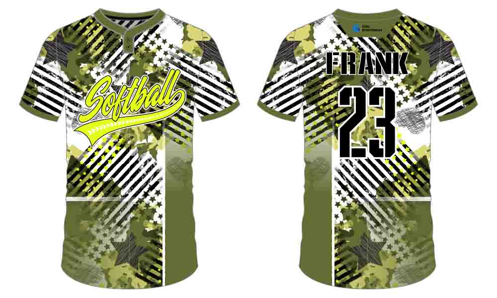 Full dye sublimation custom printing softball jersey design