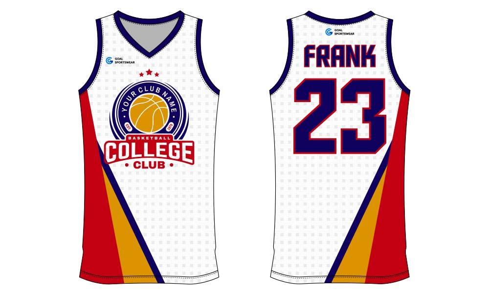 Full dye sublimation printing custom made team basketball jersey design