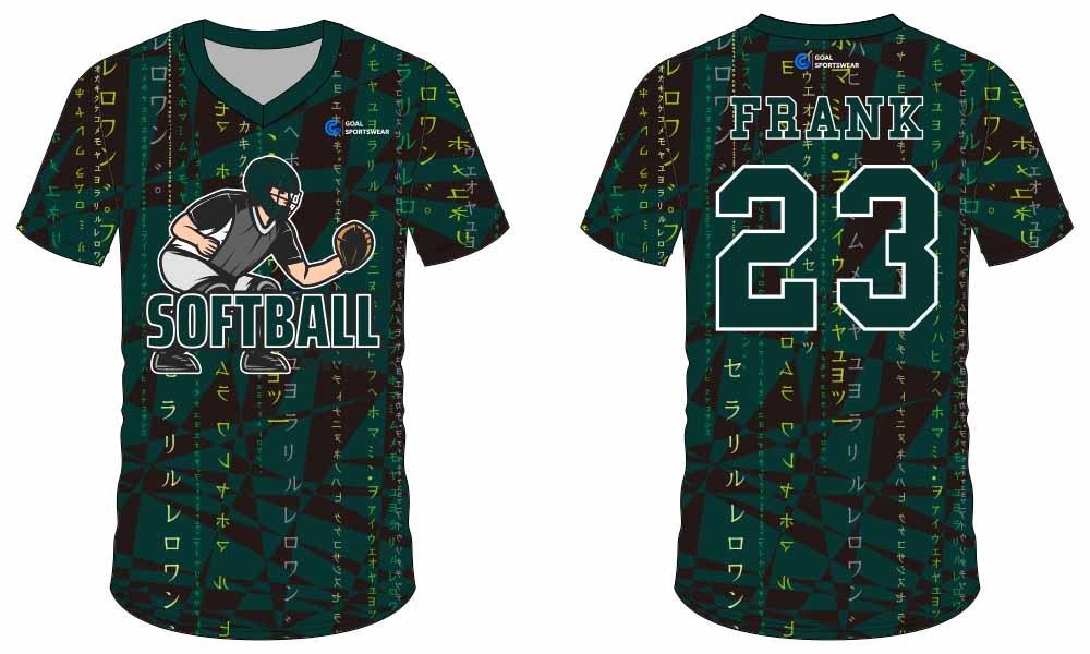 Full dye sublimation printing custom made team softball jersey design
