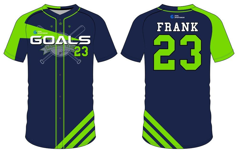 Full dye sublimation wholesale custom button down baseball jersey