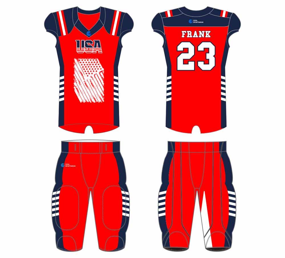 Full dye sublimation wholesale custom football jersey design