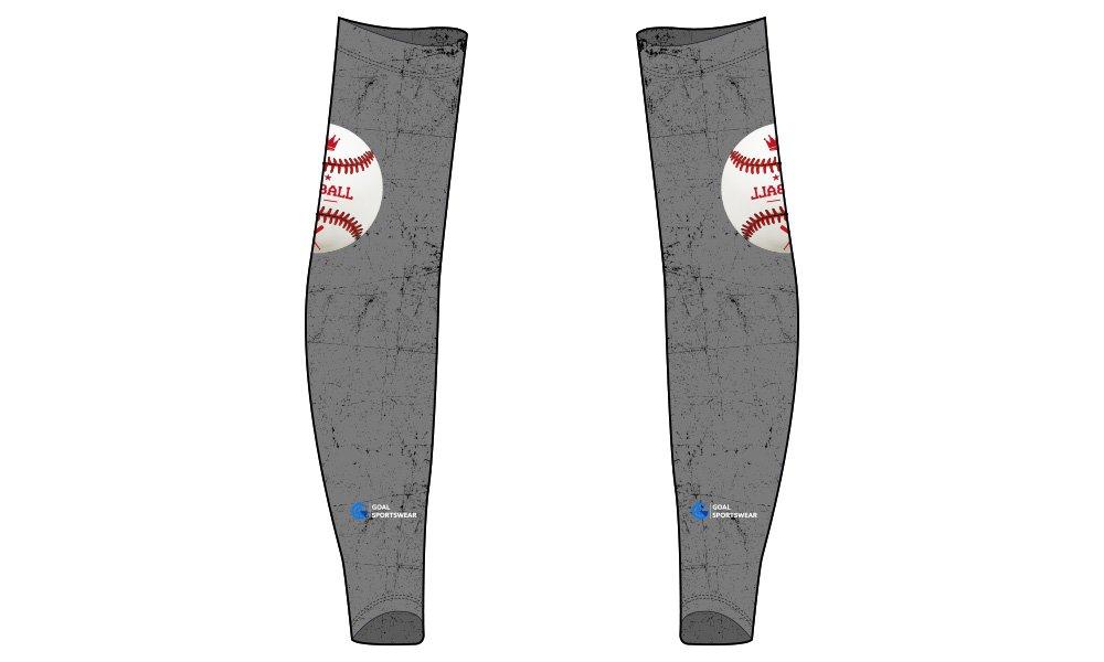 Full polyester Custom made durable mens team custom baseball arm sleeves