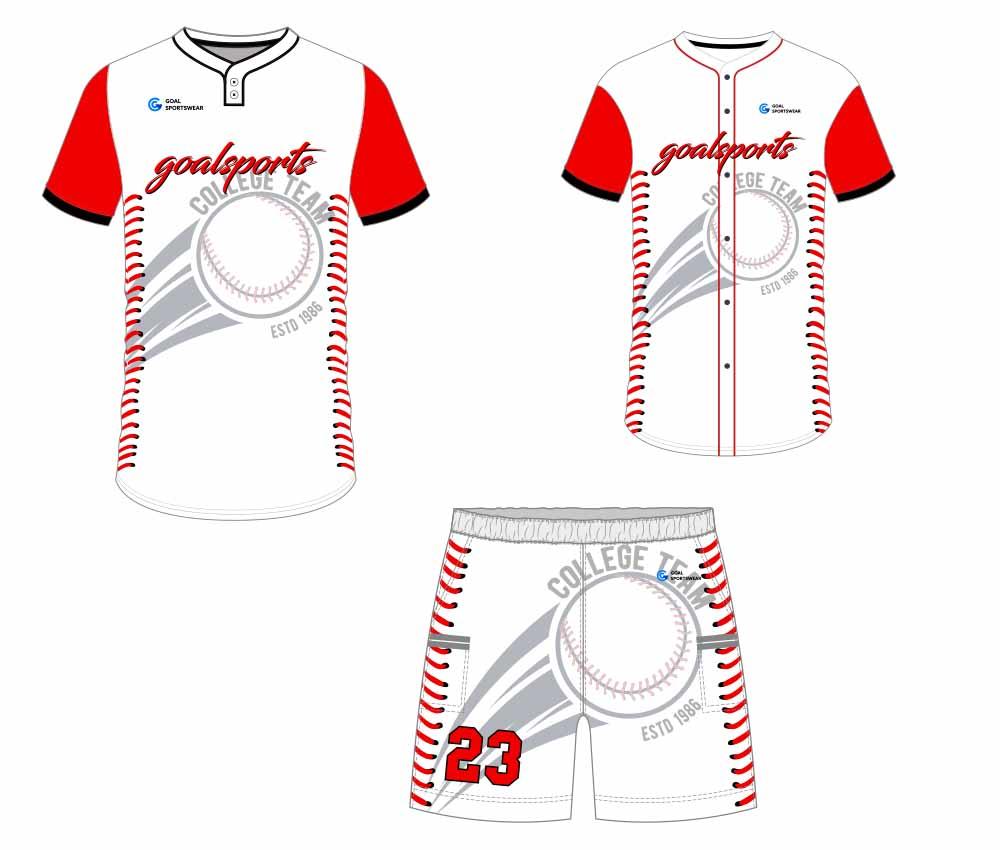 Full polyester Custom made durable mens team custom baseball gear