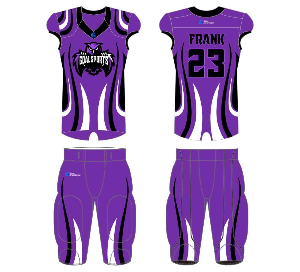 Full polyester Custom made durable mens team football jersey design