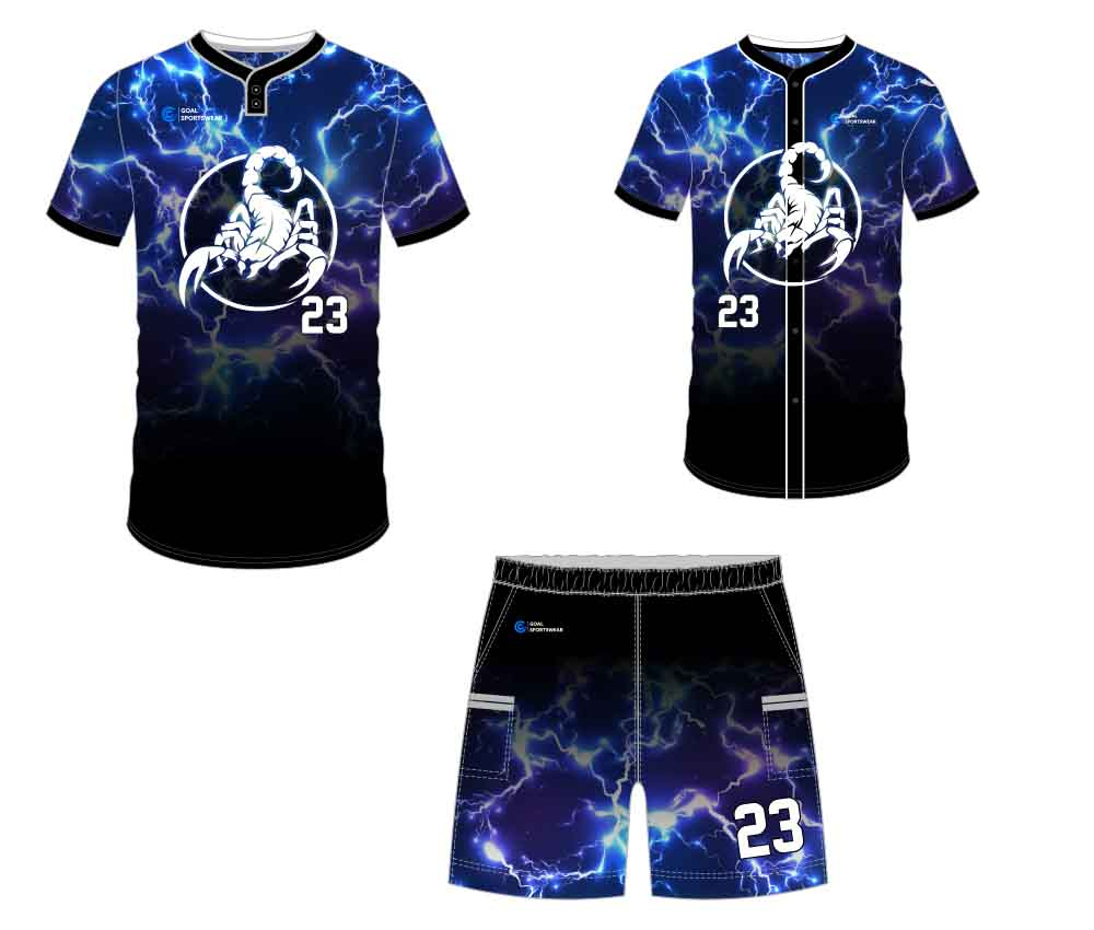 Full polyester breathable custom design sublimated custom baseball gear