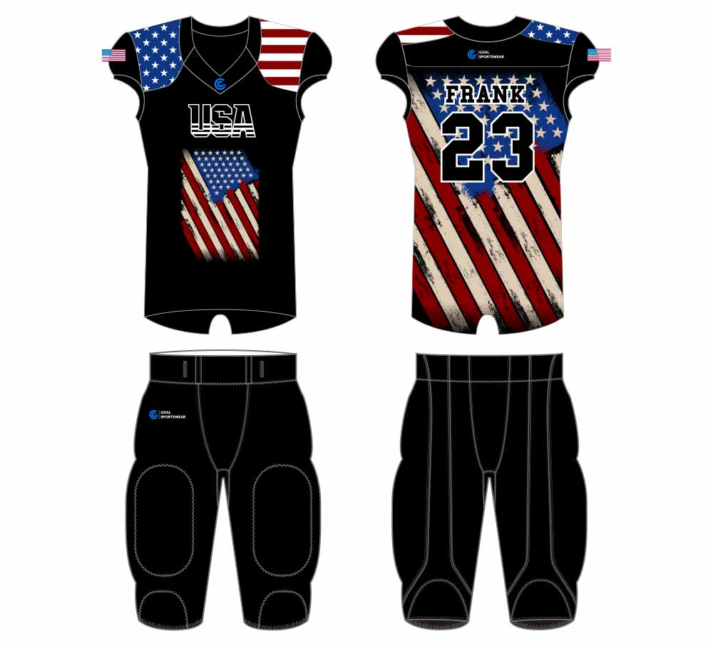 Full polyester breathable custom design sublimated football jersey design