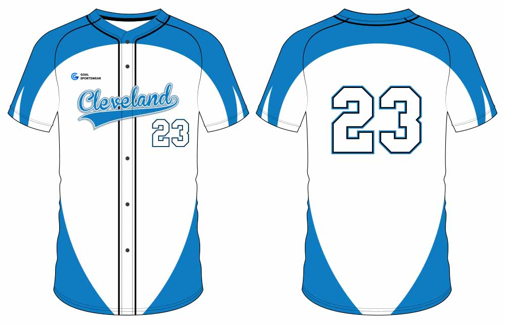 Full polyester durable sublimated custom youth team button down baseball jersey