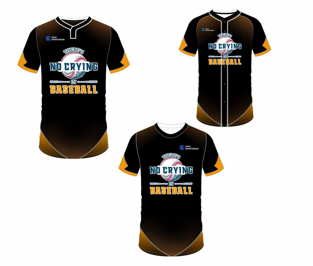Full polyester durable sublimated custom youth team custom baseball gear