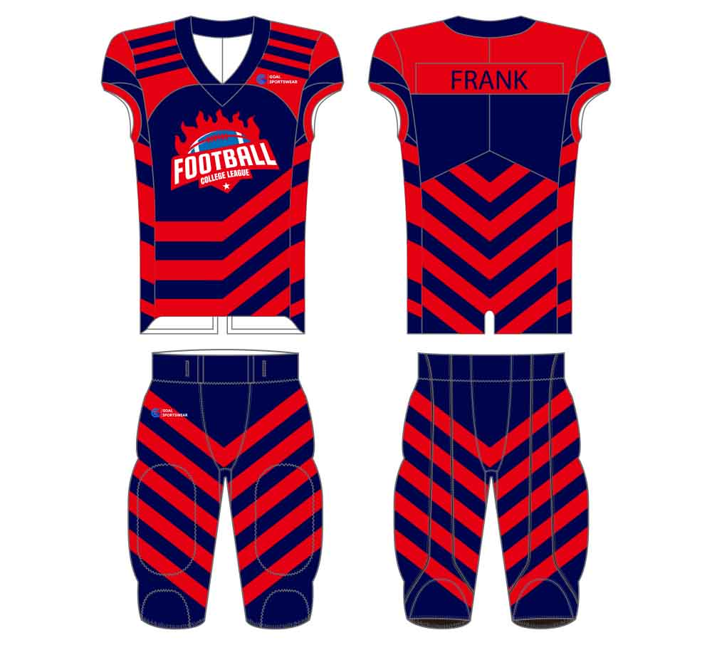 Full polyester durable sublimated custom youth team football jersey design