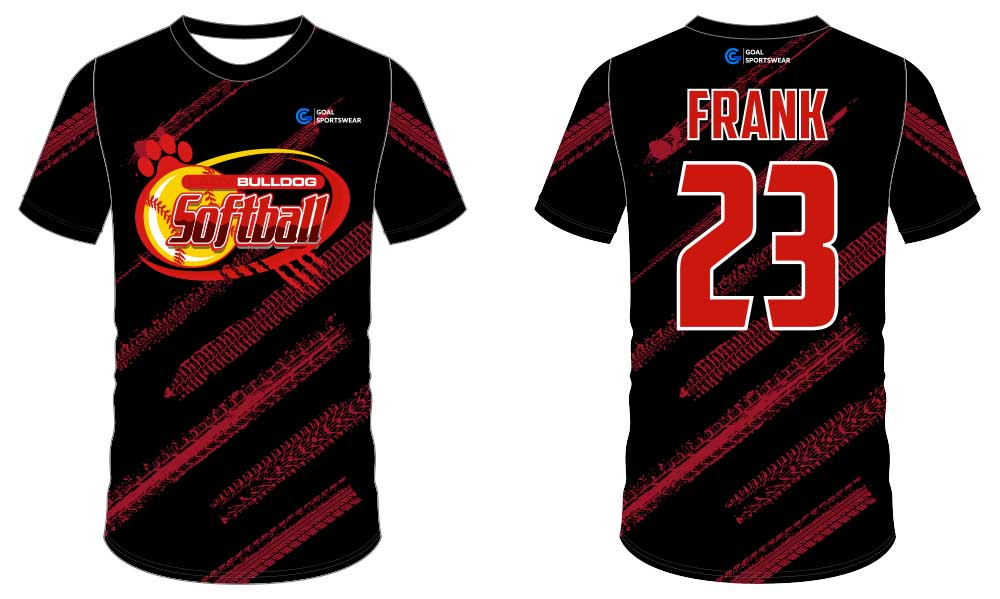 Full polyester durable sublimated custom youth team softball jersey design