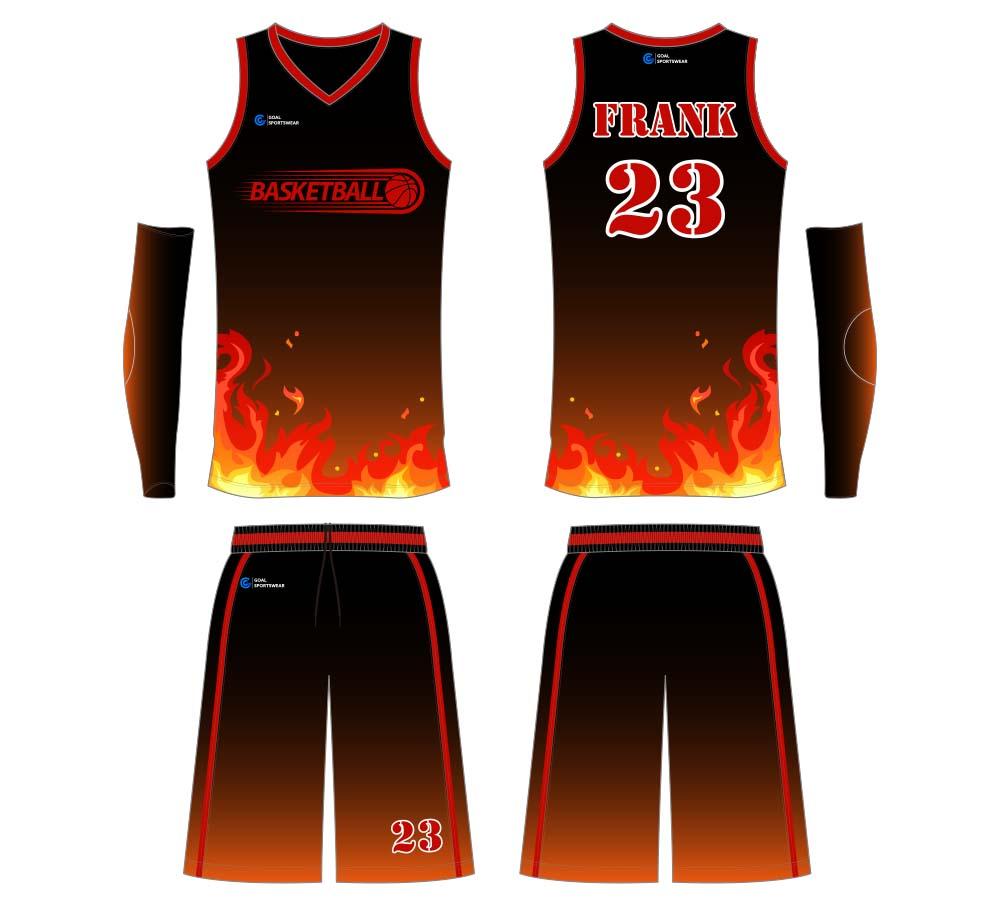 High quality 100% polyester sublimation custom design basketball jersey design