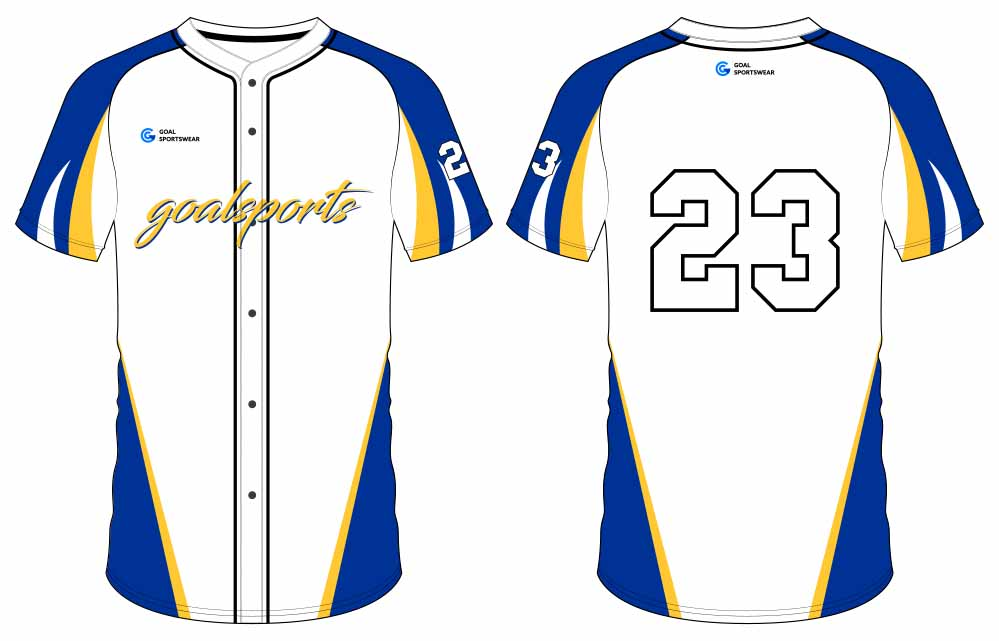 High quality 100% polyester sublimation custom design button down baseball jersey