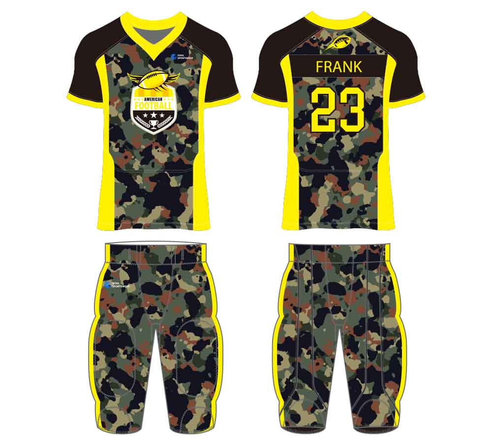 High quality 100% polyester sublimation custom design football jersey design