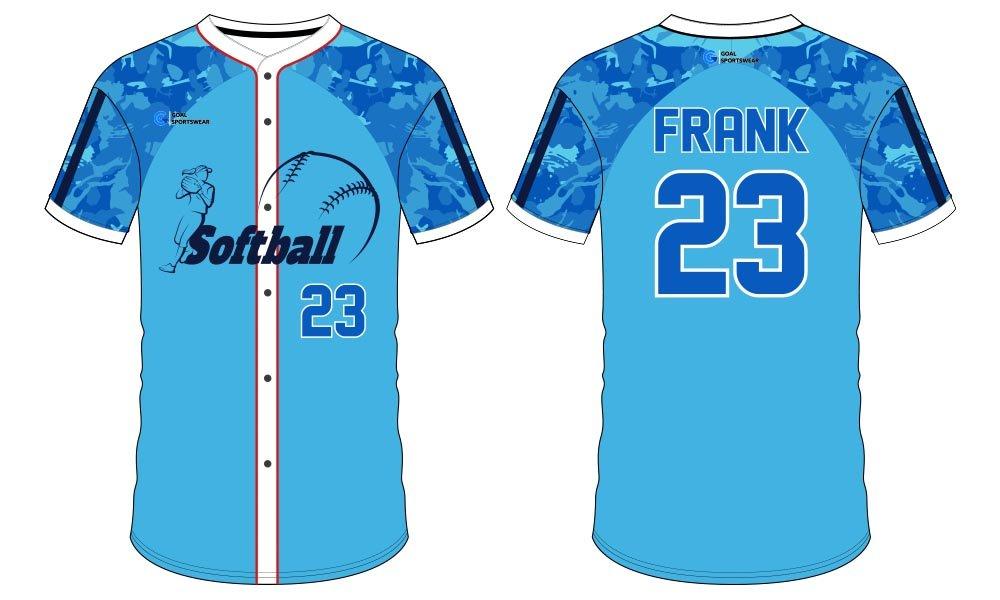 High quality 100% polyester sublimation custom design softball jersey design