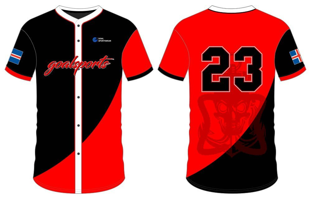 High quality Dye sublimation custom made button down baseball jersey