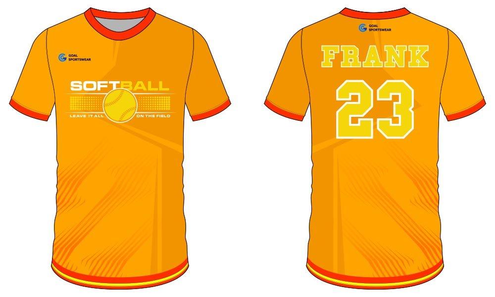 High quality Dye sublimation custom made softball jersey design