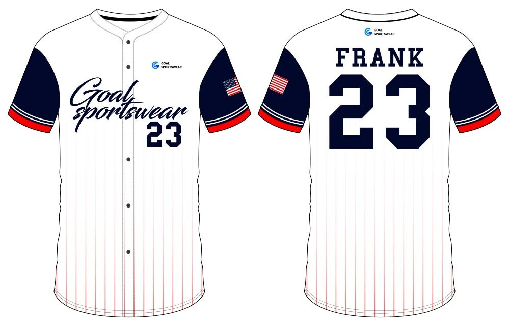 High school custom design sublimated reversible button down baseball jersey