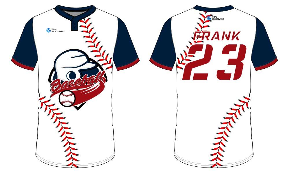 High school custom design sublimated reversible custom throwback baseball jerseys