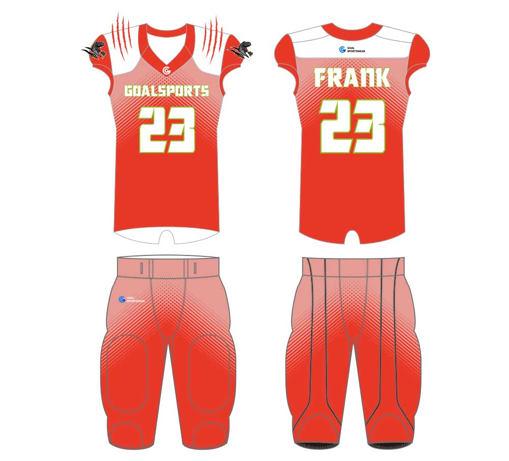High school custom design sublimated reversible football jersey design