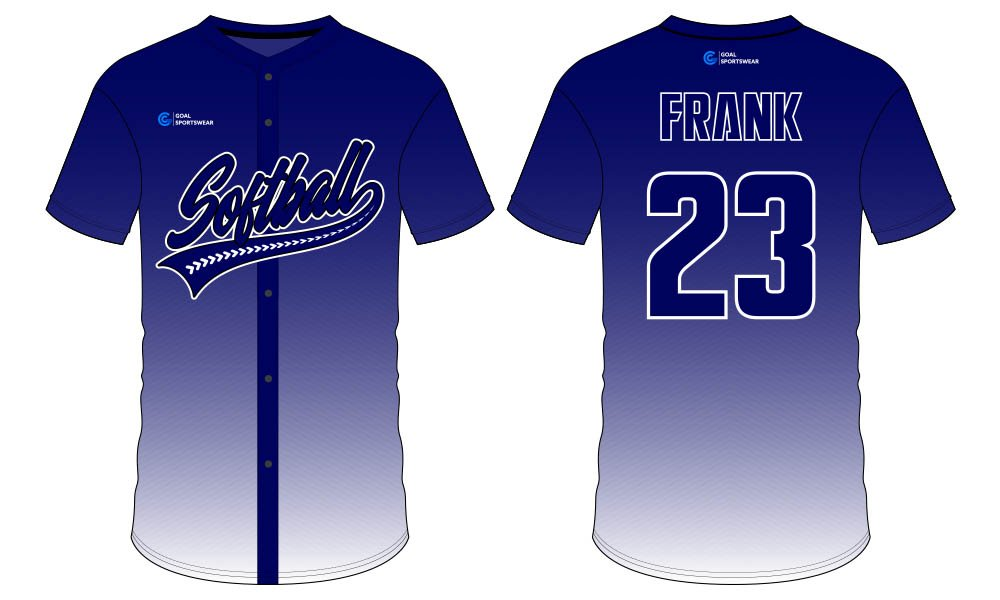 High school custom design sublimated reversible softball jersey design