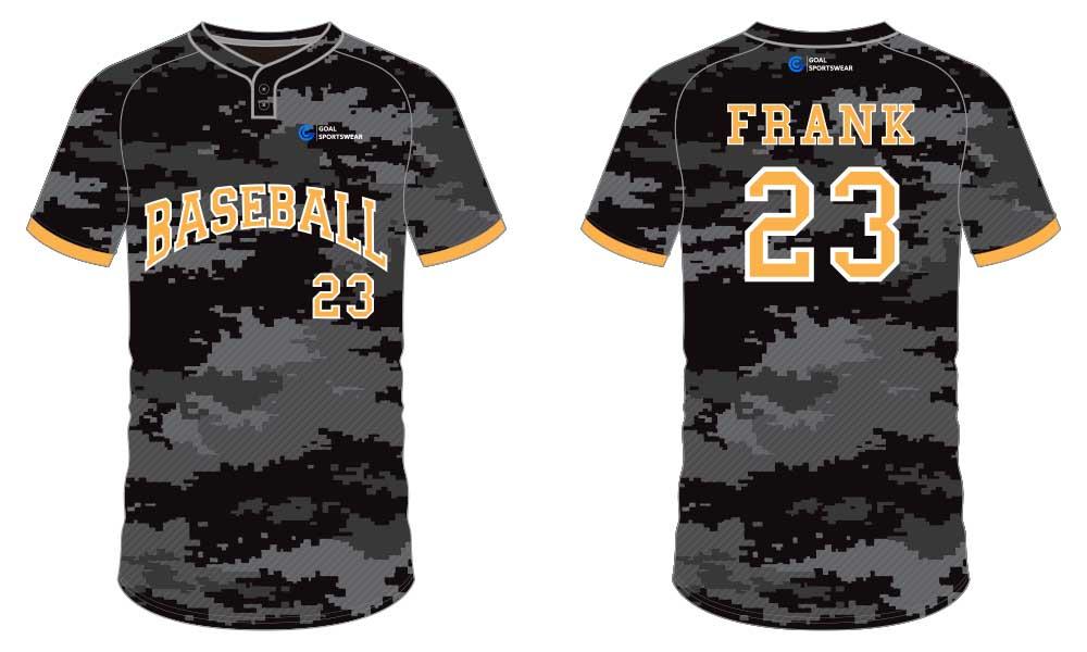 High school custom design sublimated reversible sublimated baseball uniforms