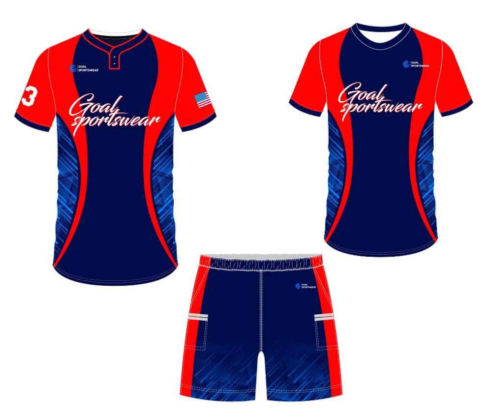 Pro quality sublimation printing custom design team custom baseball gear