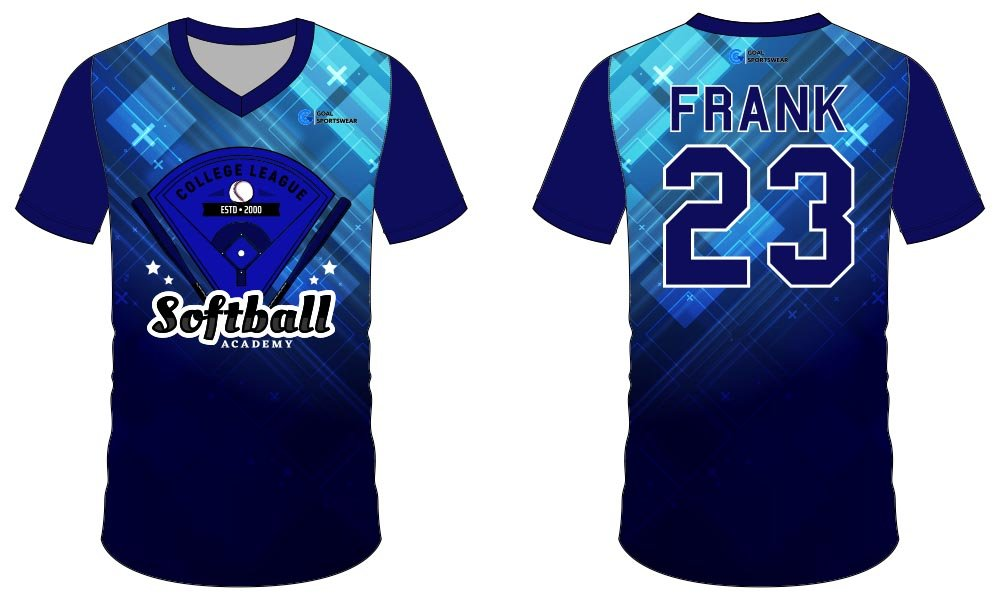 Pro quality sublimation printing custom design team softball jersey design