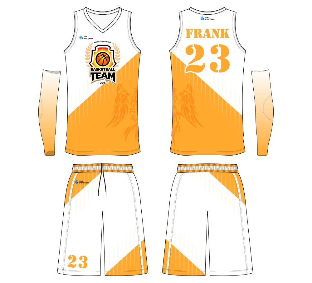 Professional custom made basketball jersey design
