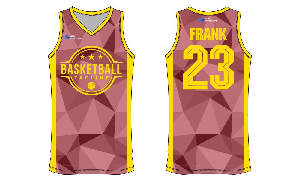 Sublimation high quality custom youth v neck basketball jersey design