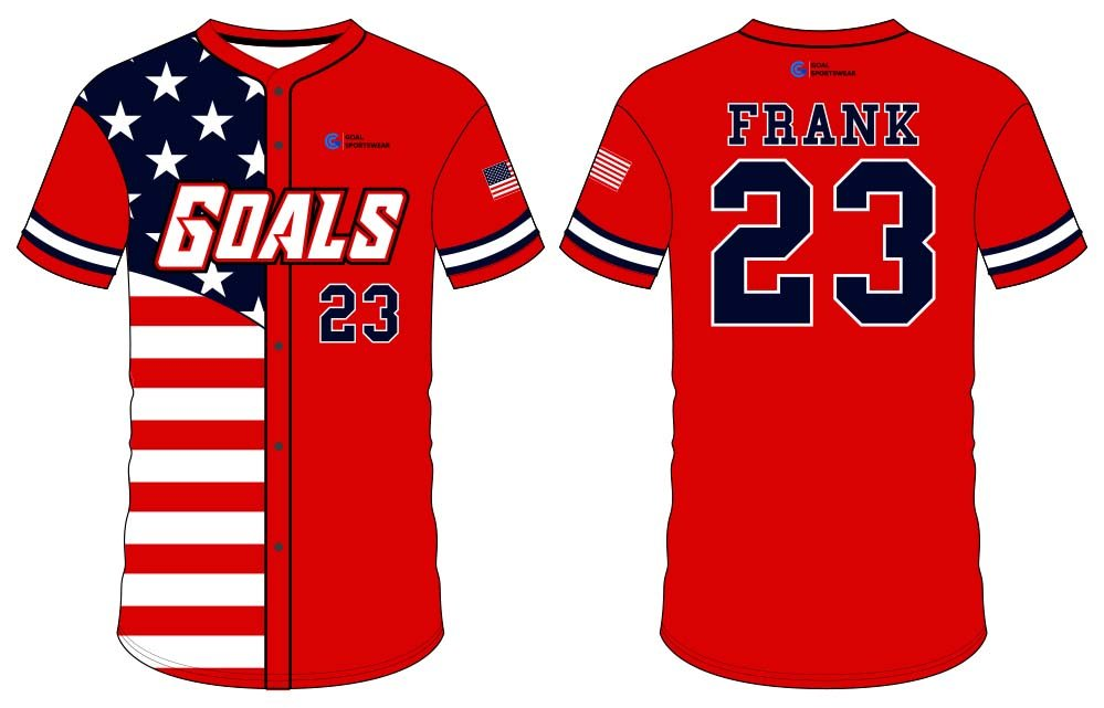 Sublimation high quality custom youth v neck button down baseball jersey