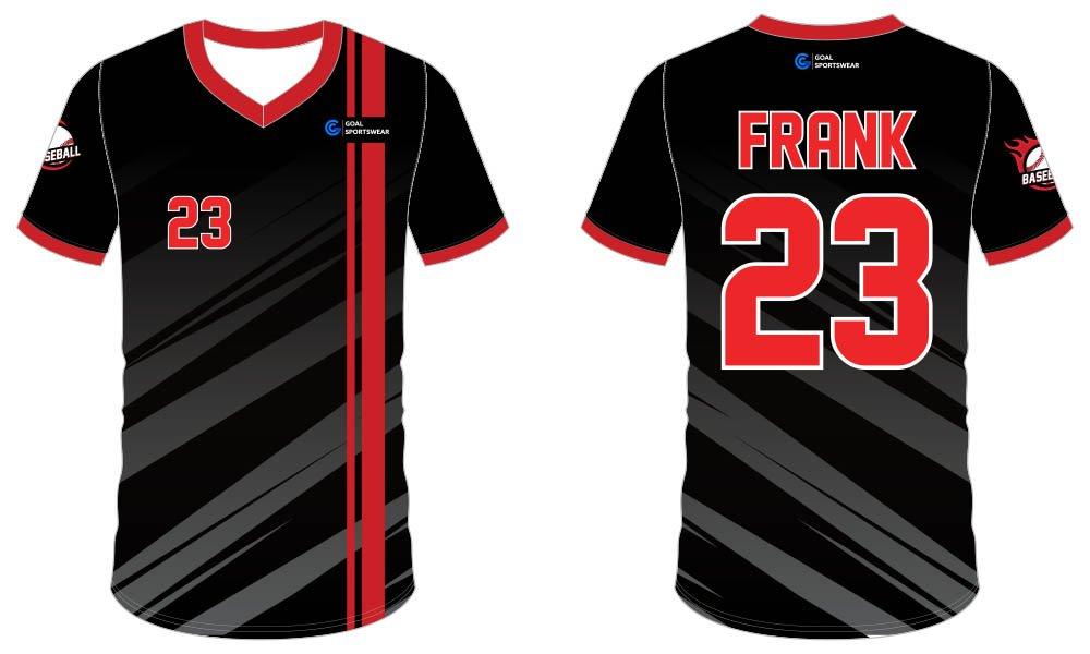 Sublimation high quality custom youth v neck custom throwback baseball jerseys
