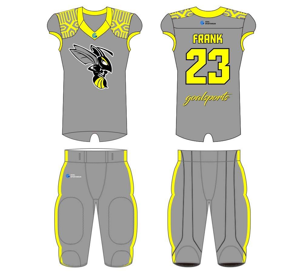 Sublimation high quality custom youth v neck football jersey design