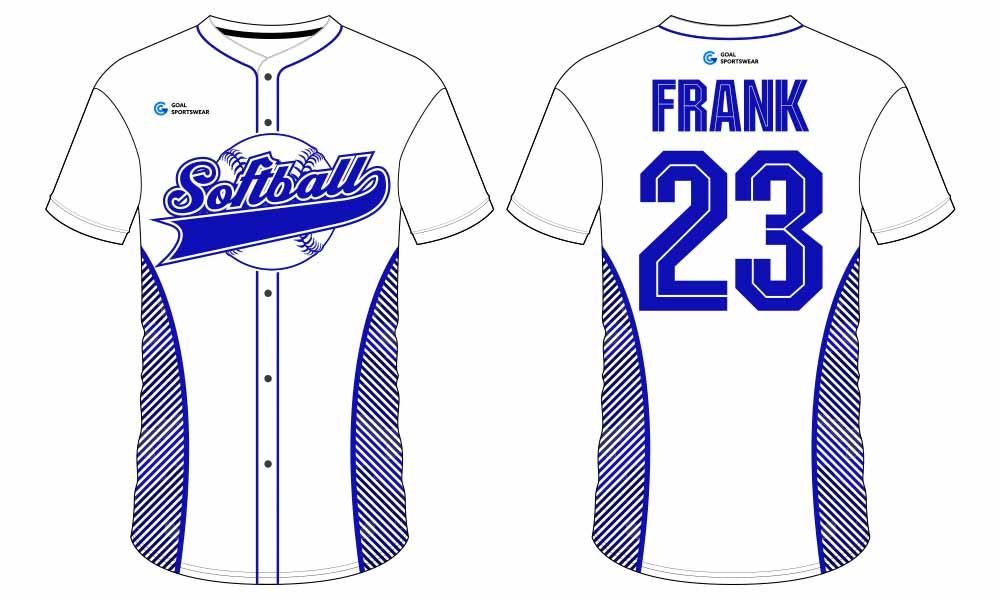 Sublimation high quality custom youth v neck softball jersey design