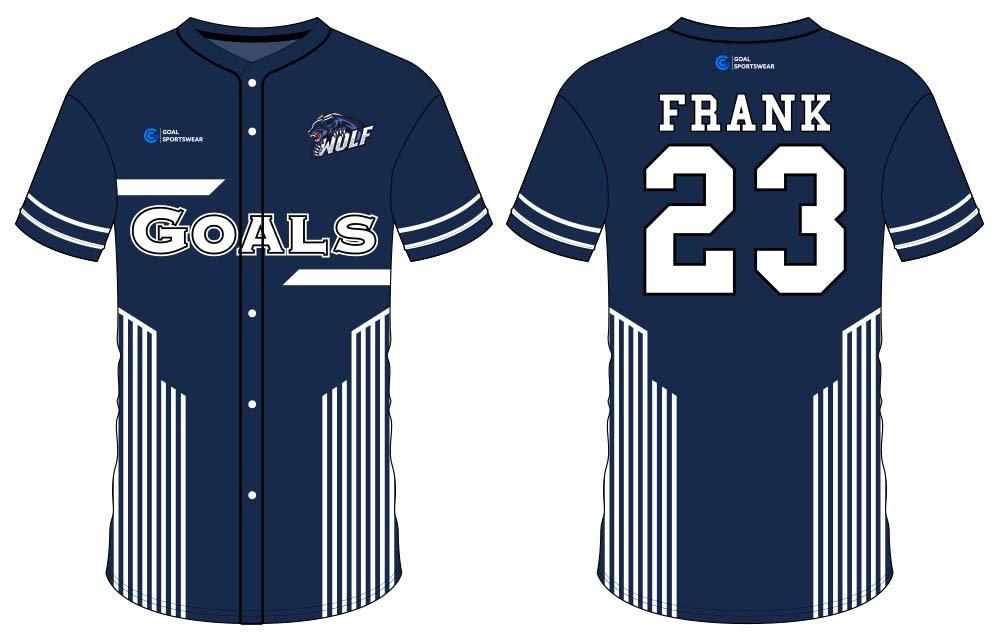 Sublimation high quality custom youth v neck sublimated baseball uniforms