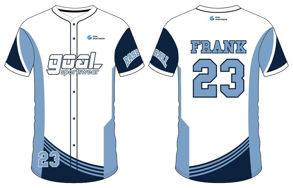 Sublimation jersey custom design button down baseball jersey