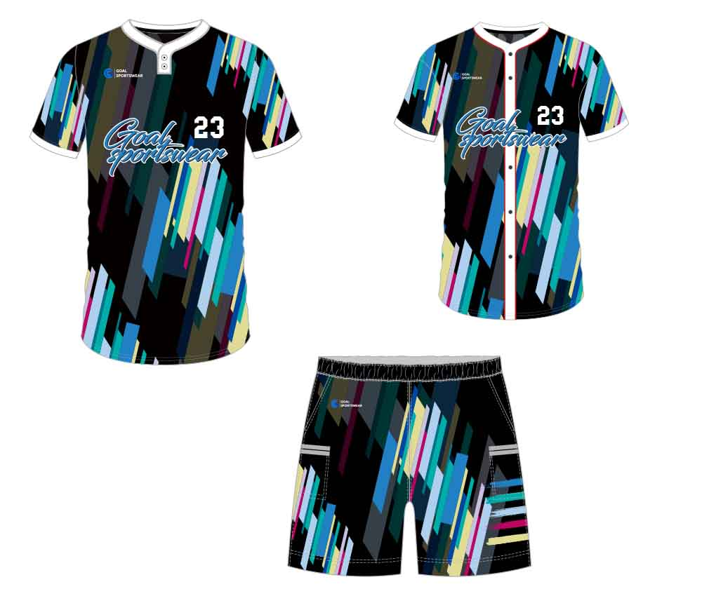 Sublimation printing 100% polyester dry fit custom baseball gear