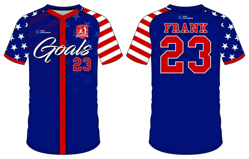 Sublimation printing 100% polyester dry fit custom button down baseball jersey