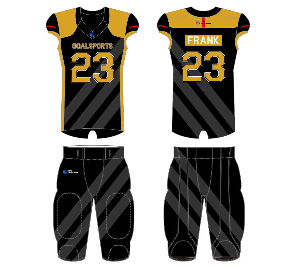 Sublimation printing 100% polyester dry fit custom football jersey design