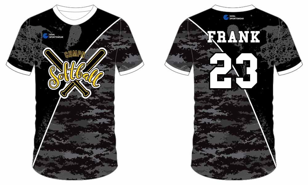 Wholesale Sublimatedcustomized printing softball jersey design