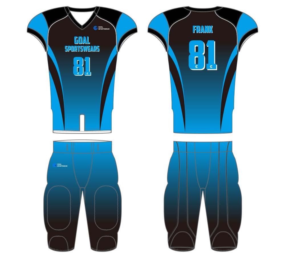 Wholesale high quality sublimation custom team football jersey design