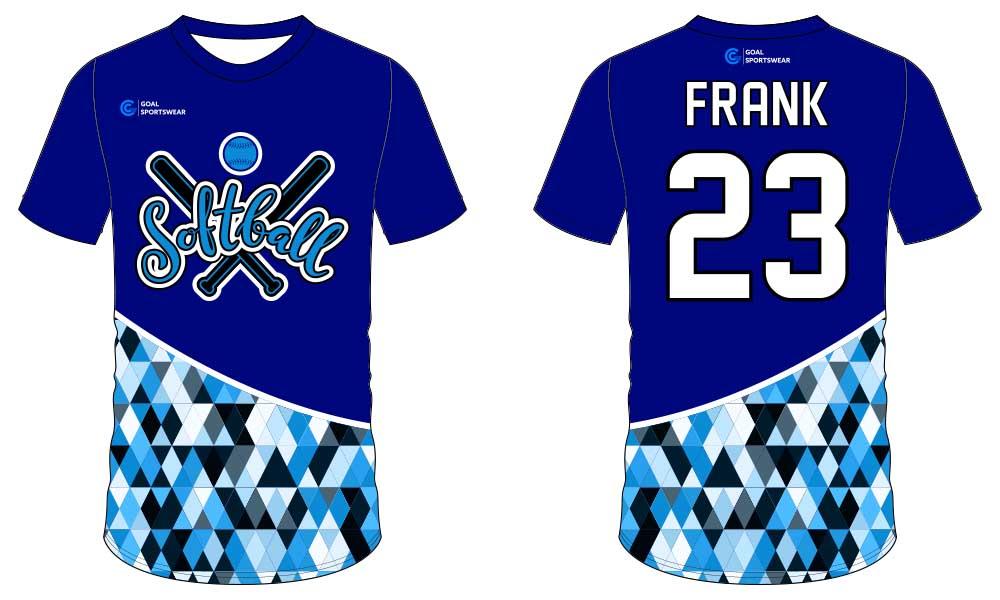 Wholesale high quality sublimation printing custom softball jersey design