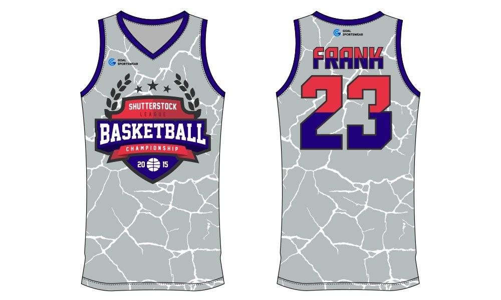Wholesale pro quality custom design sublimated kids basketball jersey design