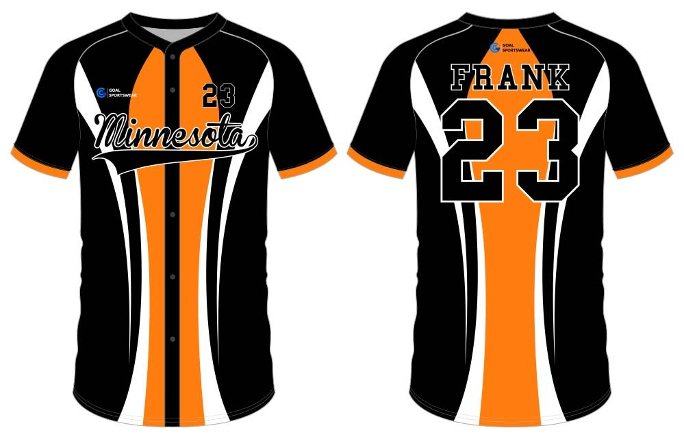 Wholesale pro quality custom design sublimated kids button down baseball jersey
