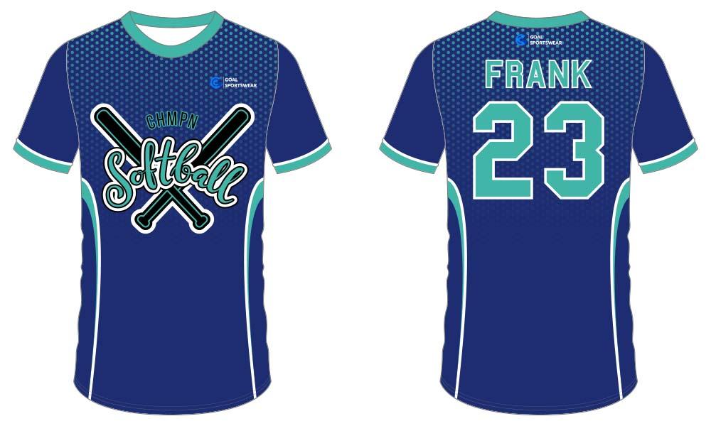 Wholesale pro quality custom design sublimated kids softball jersey design