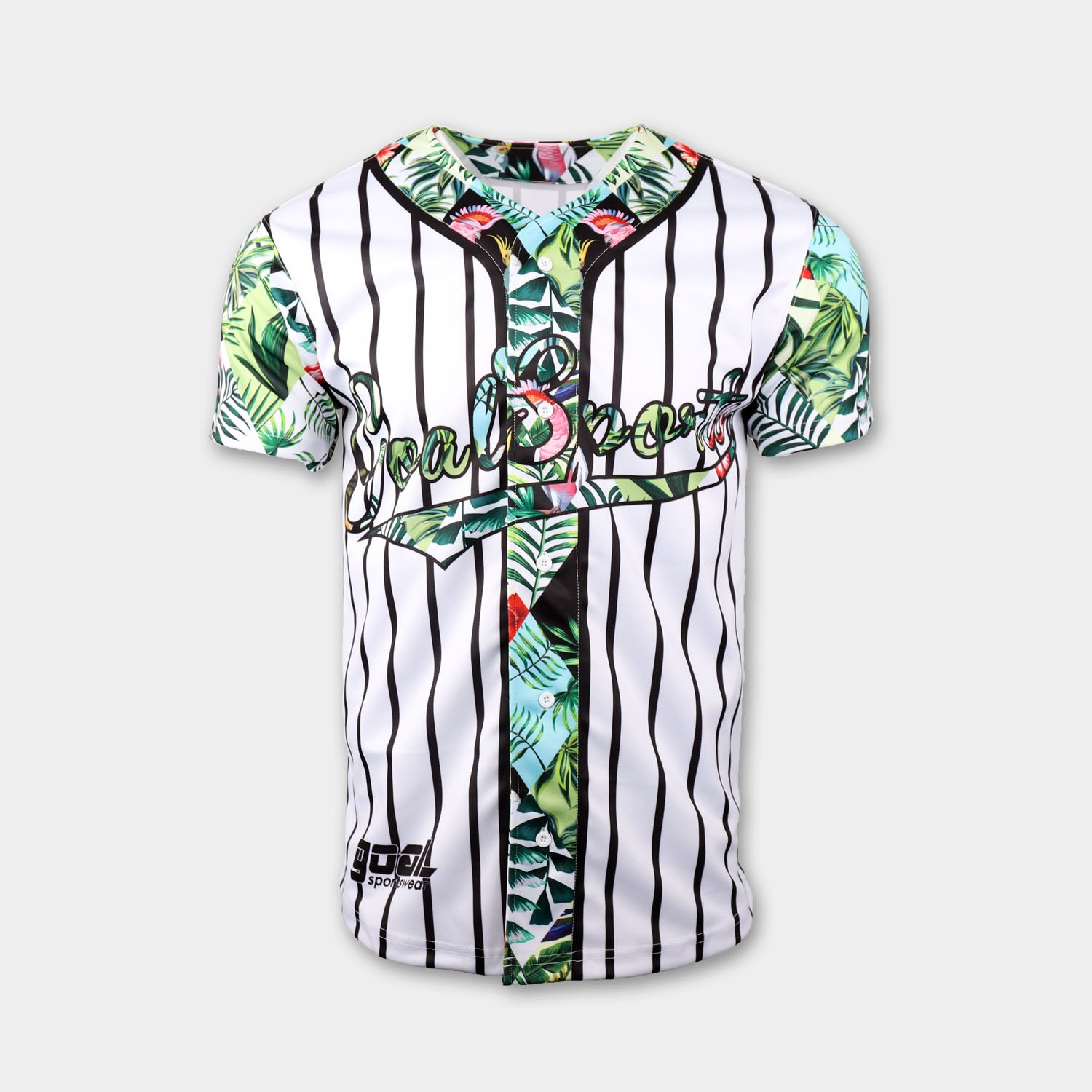 button down baseball jersey front