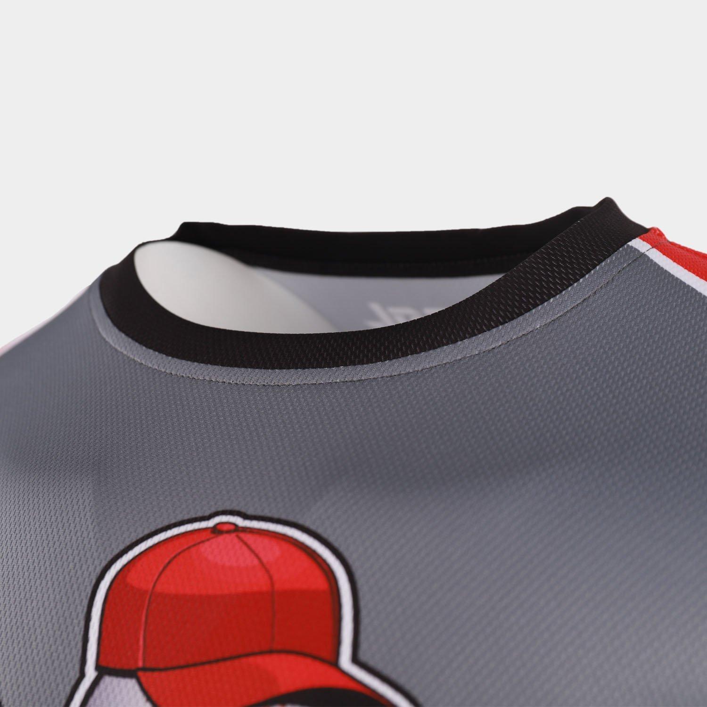 custom baseball tees collar
