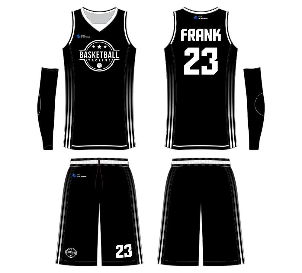 custom made full dye reversible basketball jersey design